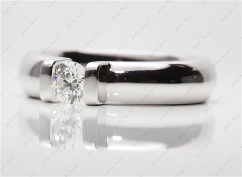White Gold 0.40 Round cut Tension Diamond Engagement ring