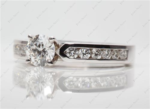 White Gold 0.63 Round cut Channel Set Diamond Band