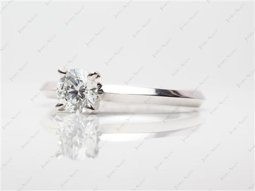 White Gold 0.47 Round cut Solitaire Ring Designs
