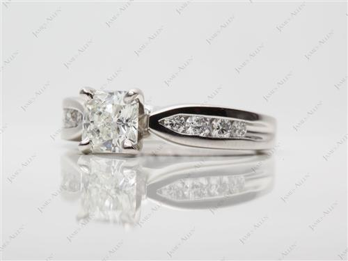 Platinum 0.87 Radiant cut Channel Set Diamond Band