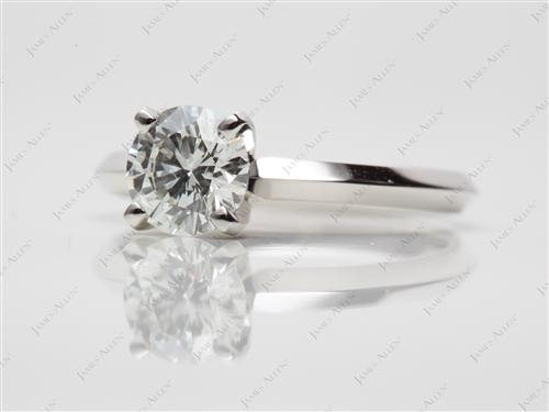 Platinum 0.70 Round cut Diamond Ring