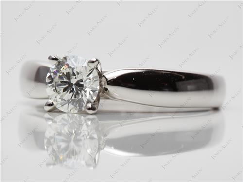 Platinum 0.72 Round cut Diamond Rings