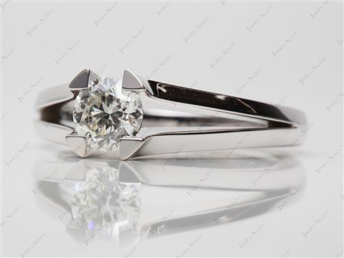 White Gold 0.80 Round cut Tension Setting Engagement Rings