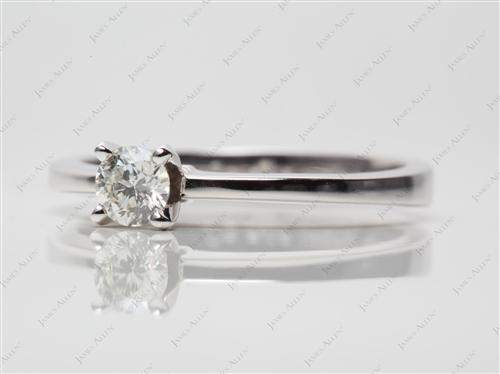 White Gold 0.32 Round cut Solitaire Ring Settings
