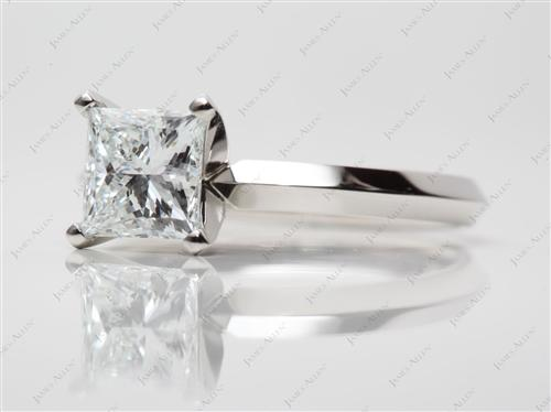 Platinum 1.53 Princess cut Solitaire Ring Designs