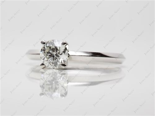 Platinum 0.57 Round cut Diamond Ring