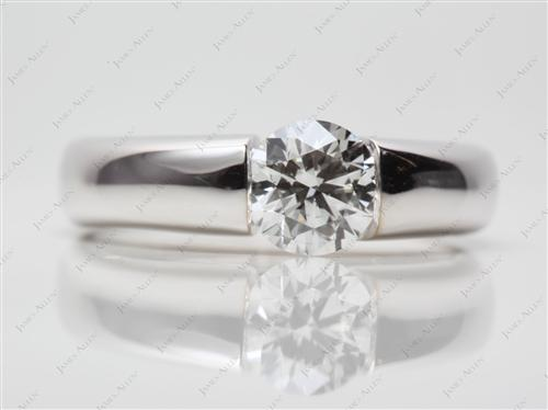 White Gold 1.04 Round cut Tension Setting Engagement Rings