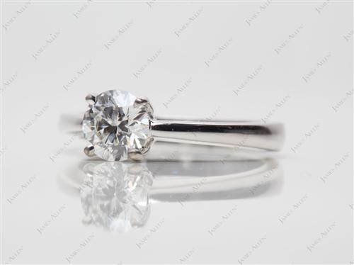White Gold 0.63 Round cut Diamond Ring