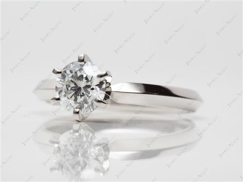 Platinum 0.81 Round cut Solitaire Ring Mountings