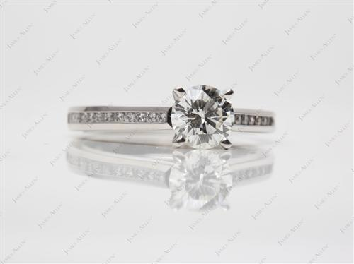 Platinum 1.02 Round cut Channel Set Diamond Ring