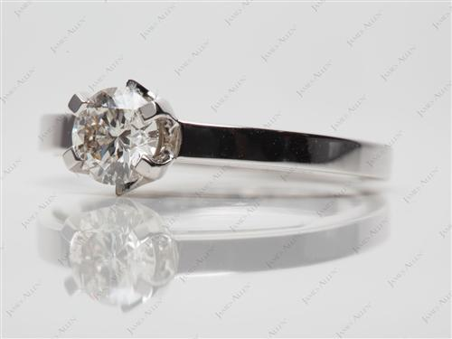 White Gold 0.60 Round cut Solitaire