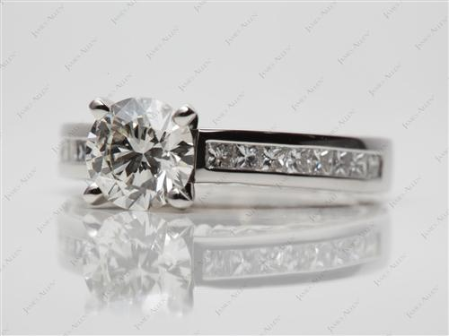 Platinum 1.21 Round cut Channel Set Diamond Rings
