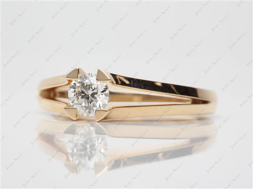 Gold 0.50 Round cut Tension Set Engagement Ring