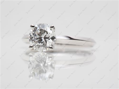 White Gold 1.02 Round cut Solitaire Ring