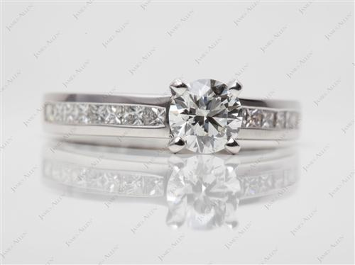 White Gold 0.77 Round cut Channel Diamond Ring