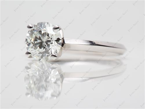 White Gold 1.25 Round cut Diamond Solitaire Rings