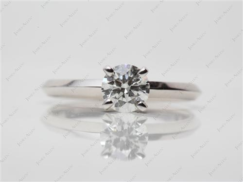 White Gold 0.58 Round cut Solitaire