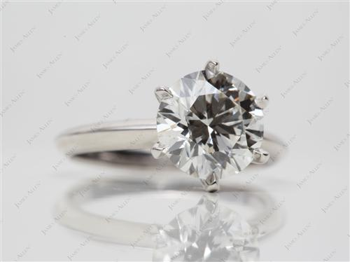 Platinum 2.21 Round cut Solitaire Diamond Rings