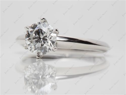 Platinum 0.98 Round cut Diamond Rings