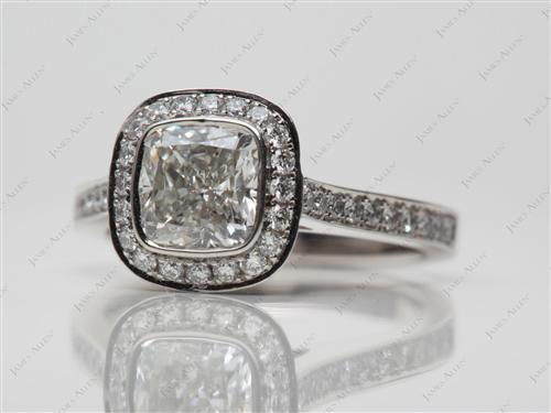 Platinum 1.21 Cushion cut Engagement Ring