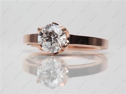 18k Rose Gold  Solitaire Ring Settings