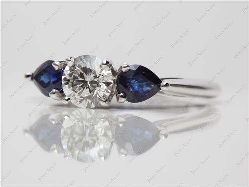 White Gold  Gemstone Ring Settings