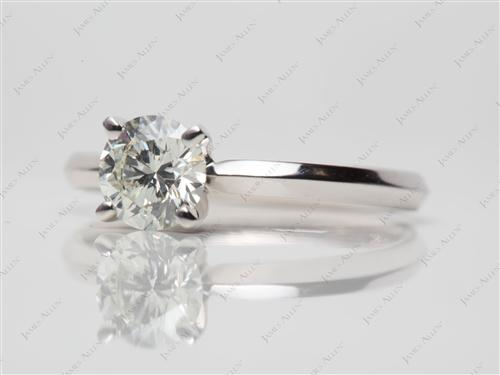 White Gold 0.64 Round cut Solitaire Diamond Ring