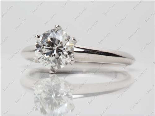 Platinum 1.03 Round cut Diamond Rings