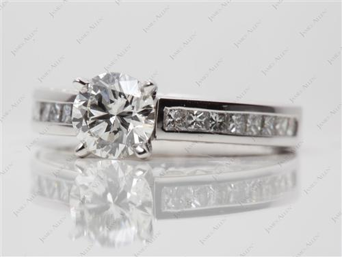 White Gold 1.00 Round cut Channel Set Rings