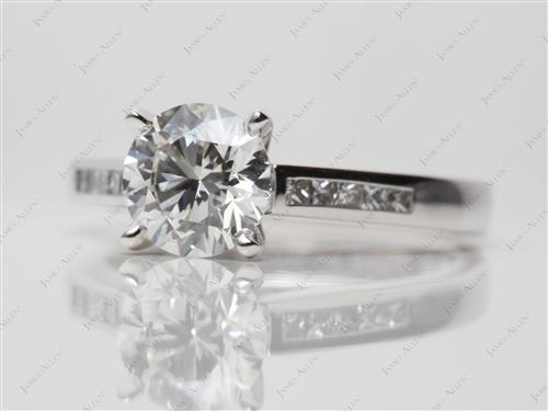 White Gold 1.33 Round cut Channel Set Diamond Ring