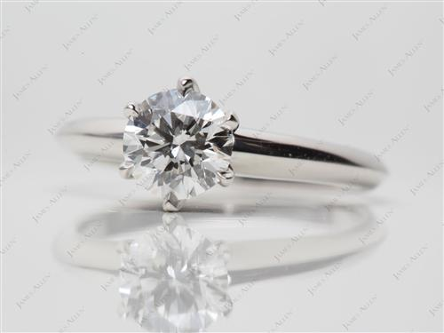 Platinum  Solitaire Ring Mountings