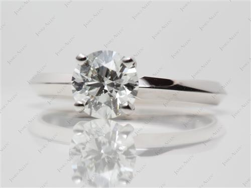 White Gold 1.14 Round cut Diamond Solitaire Rings