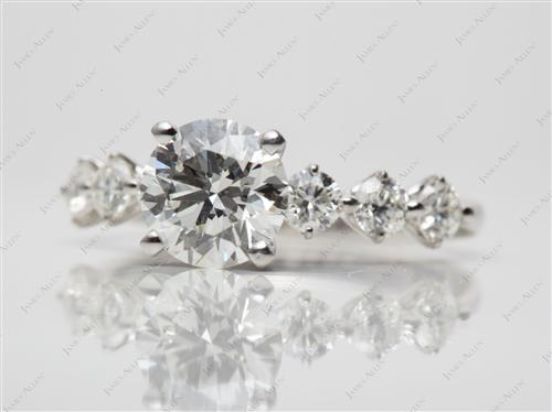 Platinum 1.40 Round cut Diamond Rings