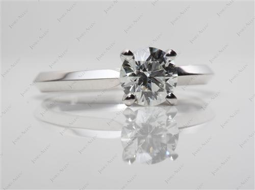White Gold 0.81 Round cut Solitaire Ring