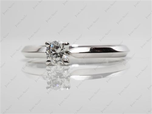 Platinum 0.30 Round cut Solitaire Diamond Rings