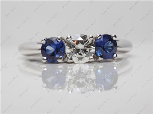 White Gold 0.50 Round cut Gemstone Diamond Rings