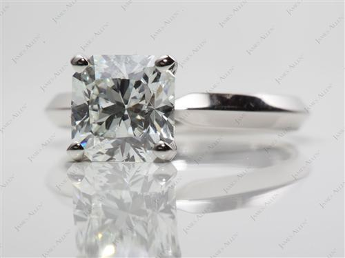 Platinum 2.25 Radiant cut Diamond Ring