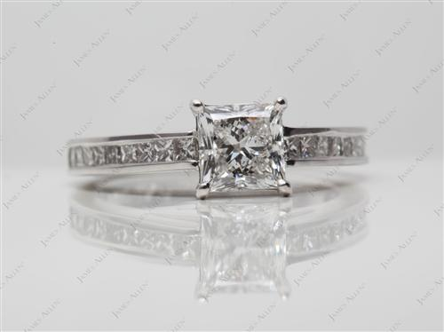 White Gold 1.00 Princess cut Channel Set Diamond Band
