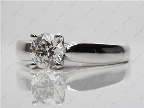 White Gold 0.92 Round cut Diamond Ring
