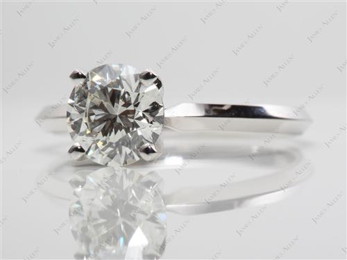 White Gold 1.31 Round cut Diamond Solitaire Engagement Ring