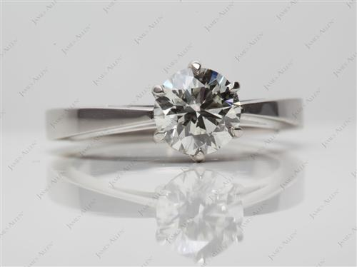 Platinum 1.02 Round cut Solitaire Diamond Ring