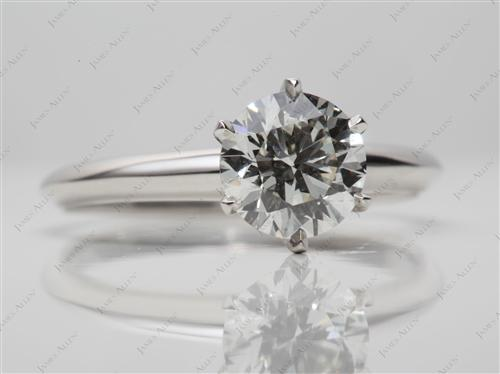 Platinum 1.41 Round cut Solitaire Engagement Ring