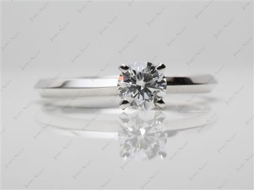 White Gold 0.44 Round cut Solitaire Ring