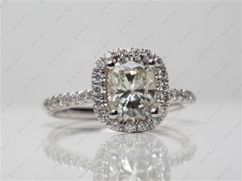 White Gold  Pave Ring Set