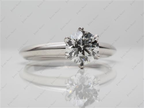 Platinum 0.81 Round cut Diamond Rings