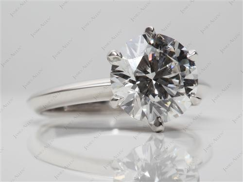 Platinum 2.53 Round cut Diamond Engagement Solitaire Rings