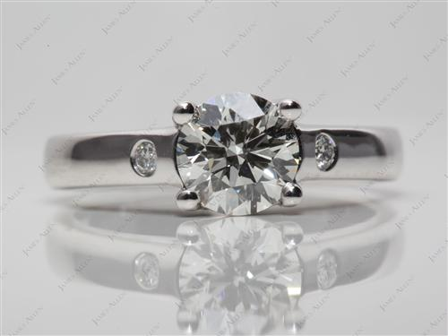 Platinum 1.27 Round cut Solitaire Engagement Ring