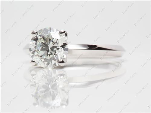 Platinum 1.41 Round cut Diamond Solitaire Ring Settings