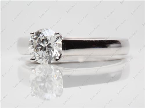 White Gold 1.06 Round cut Diamond Solitaire Ring Settings