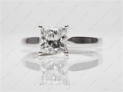 White Gold 1.21 Princess cut Diamond Solitaire Engagement Ring